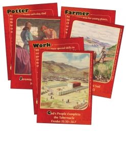 At Work with God - Bible Cards cover image