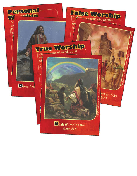 At Worship with God - Bible Cards cover image
